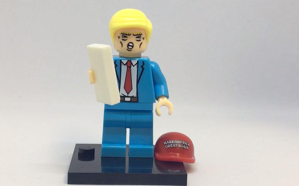 LEGO Minifigure Trump - bricksfans com